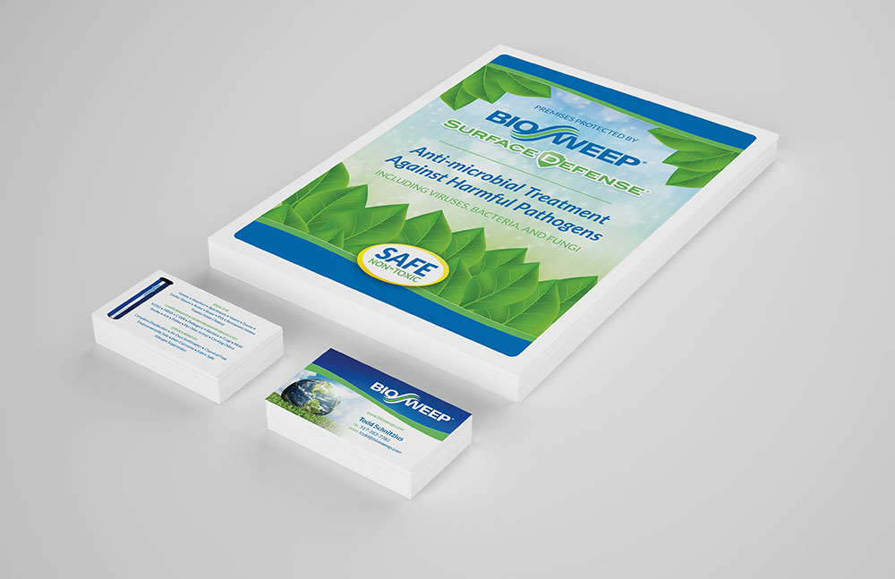 Flyer & Business Card Design for BioSweep | Elden Creative Group