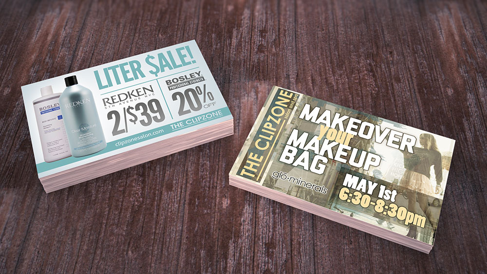 Postcard Designs for Hair Salon | Elden Creative Group