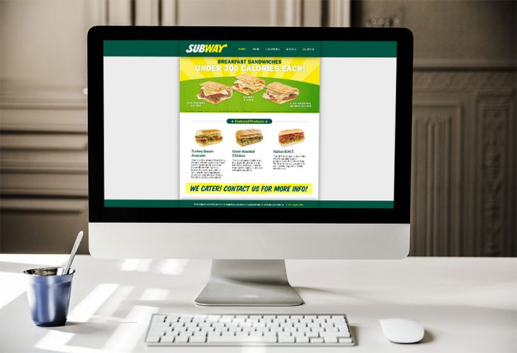 ECG Redesigns Subway Franchise Website