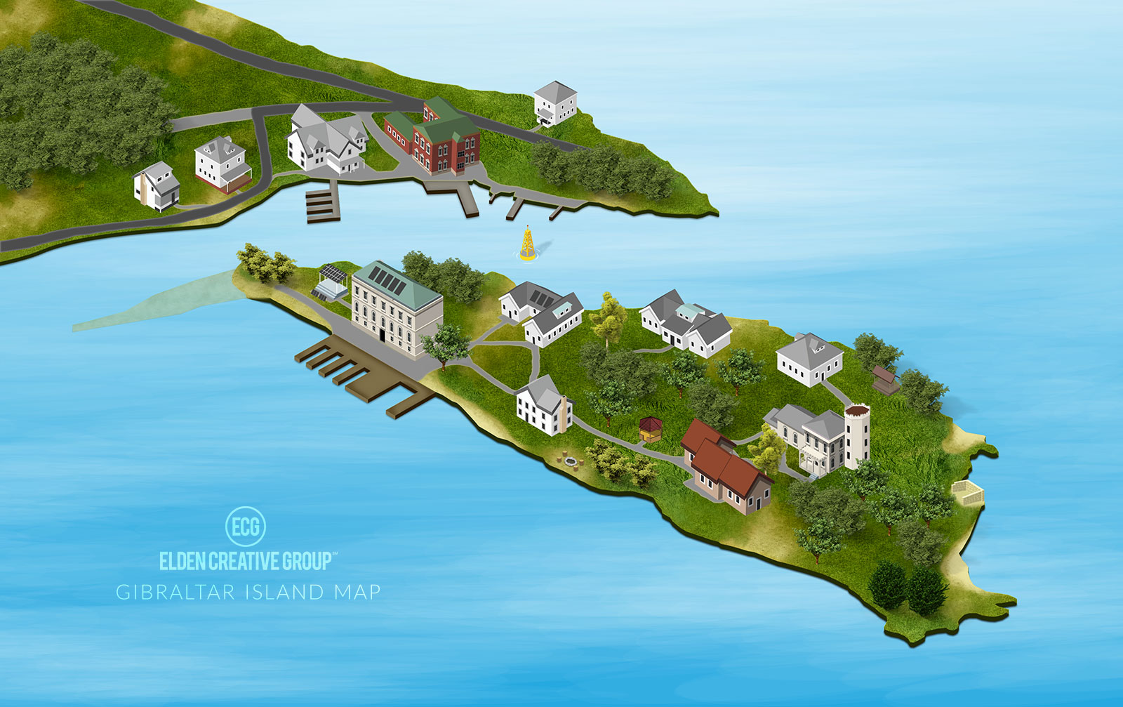 Gibraltar Island Map | Elden Creative Group